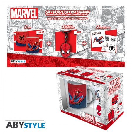 MARVEL Spider-man Set (Mug + Keyring + Sticker)