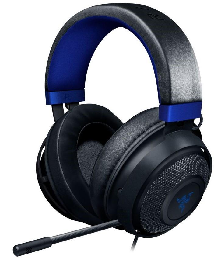 RAZER KRAKEN Console juodos-mėlynos laidinės ausinės su mikrofonu | 3.5mm