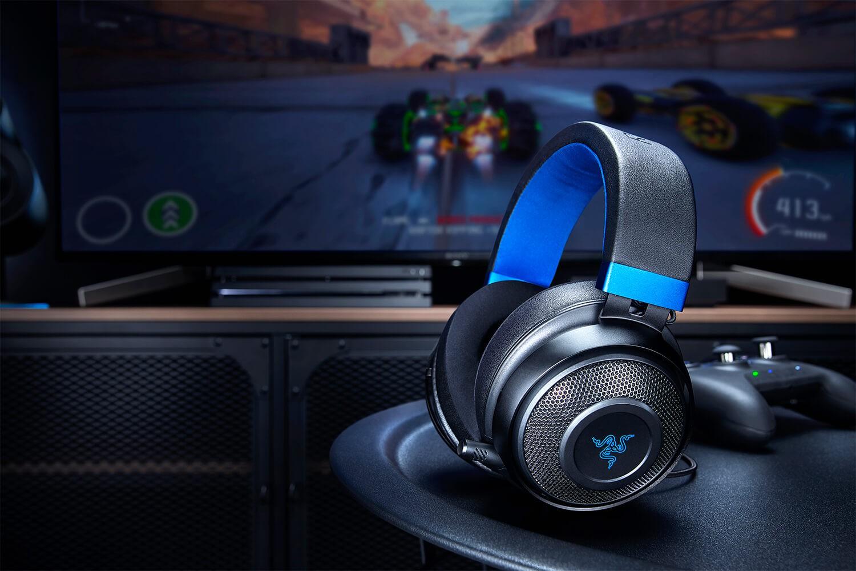 RAZER KRAKEN for Console juodos-mėlynos laidinės ausinės su mikrofonu | 3.5mm