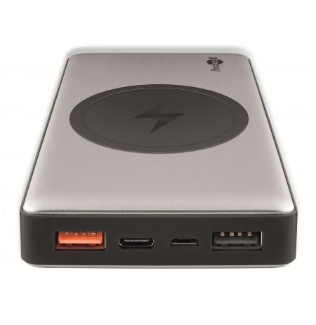 Goobay 10000mAh Įkroviklis-akumuliatorius (Power Bank) su belaidžio krovimo funkcija USB/USB-C