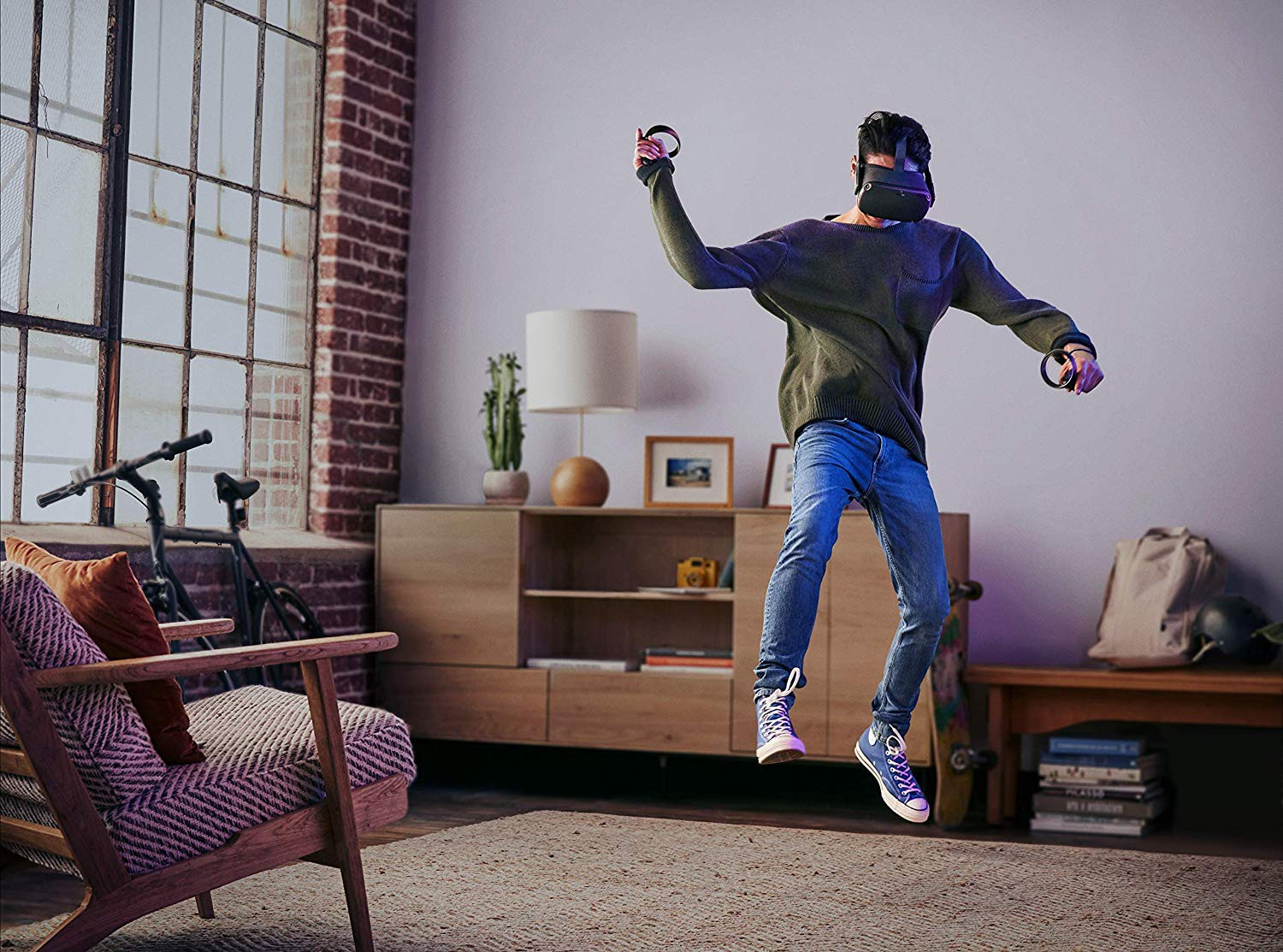 Virtualios realybės akiniai Oculus Quest All-in-one VR – 128GB