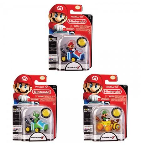 Nintendo Pull Back Racer Nintendo + Coin Assort | 7cm