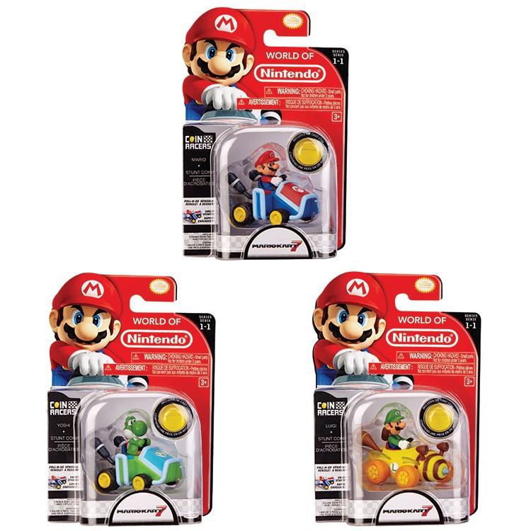 Nintendo Pull Back Racer Nintendo + Coin Assort| 7cm