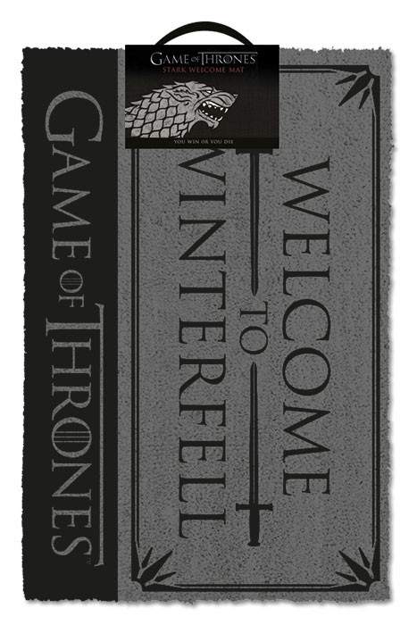 Game of Thrones (Welcome to Winterfell) durų kilimėlis| 60x40cm