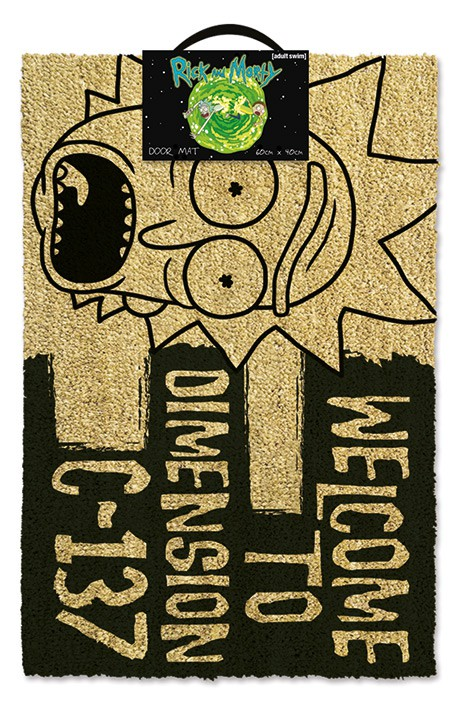 Rick And Morty (Welcome To Dimension C-137) doormat | 60x40cm