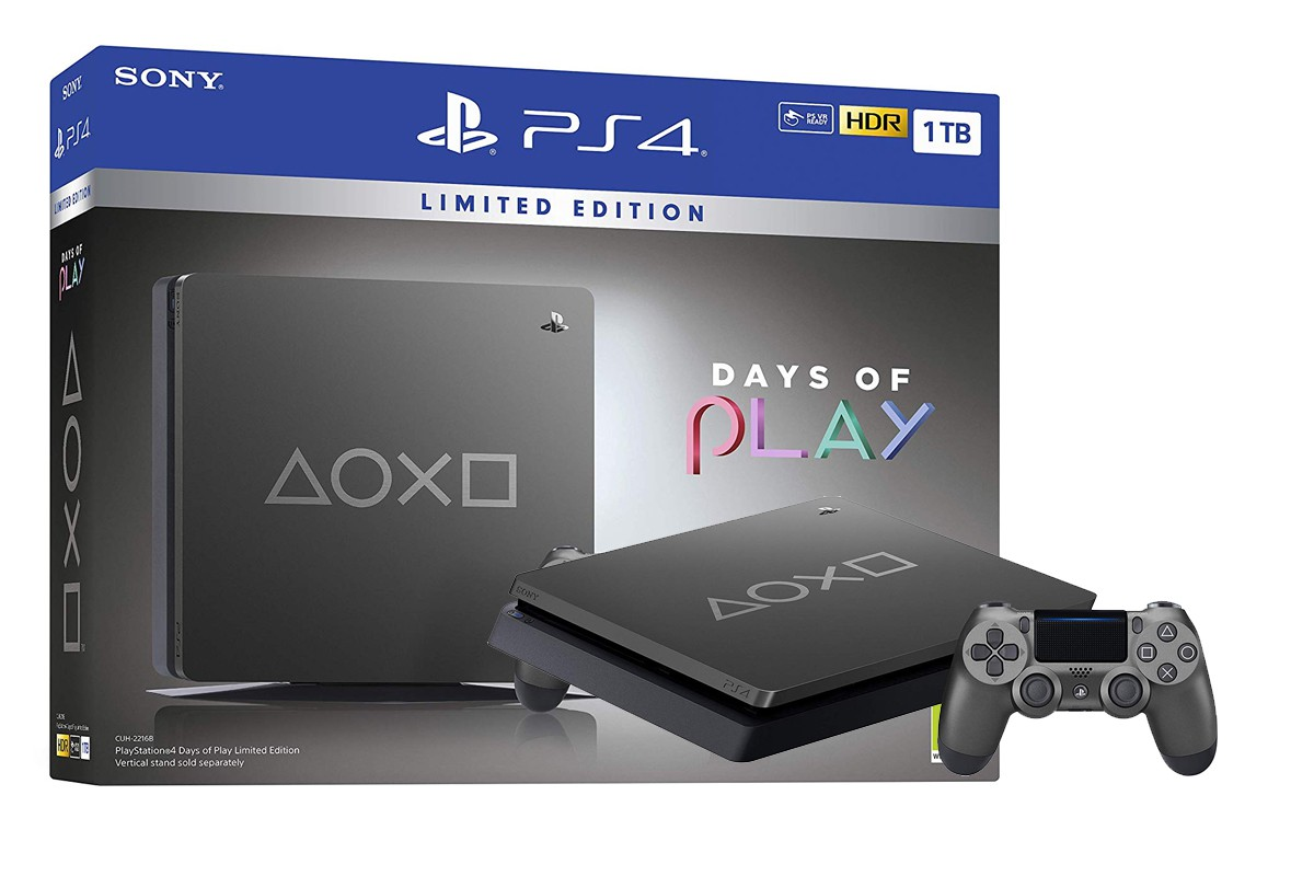 Žaidimų konsolė SONY PlayStation 4 (PS4) Slim 1TB (Days of Play Limited Edition Steel Black)