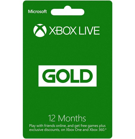 Xbox live 12 Month Gold Membership Card (Xbox One/360) | EU