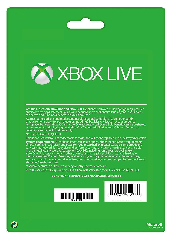 Xbox live 12 Month Gold Membership Card (Xbox One/360) | EU