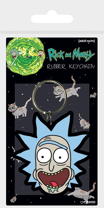 Rick and Morty (Rick Crazy Smile)rubber keychain