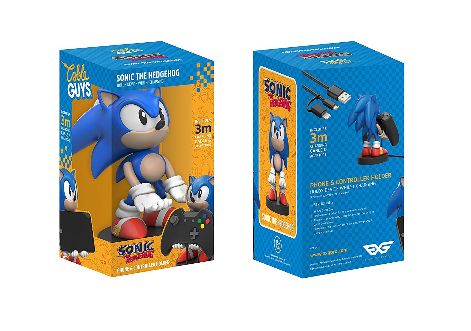 Sonic The Hedgehog Cable Guy stovas