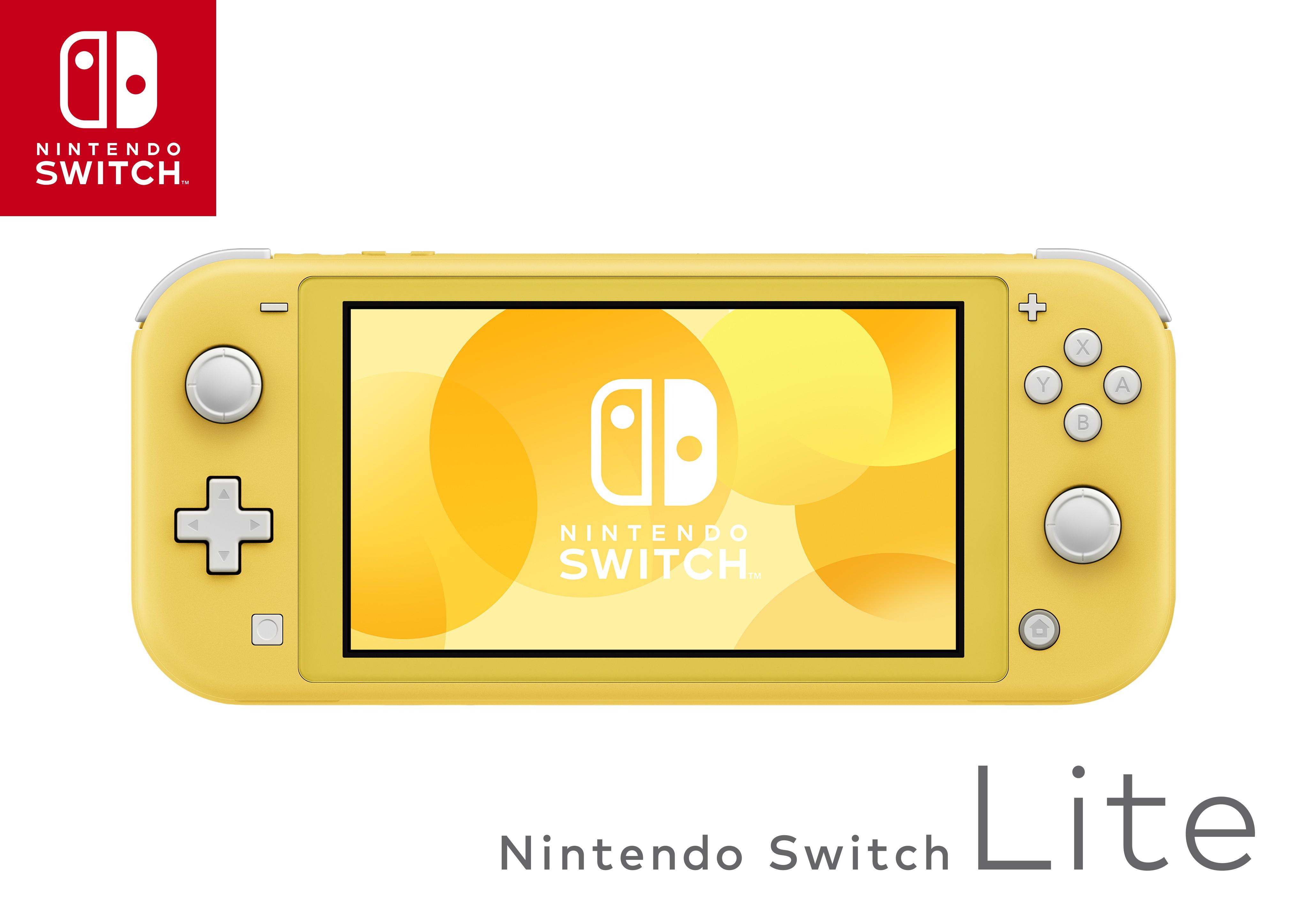 Nintendo Switch Lite (geltona)