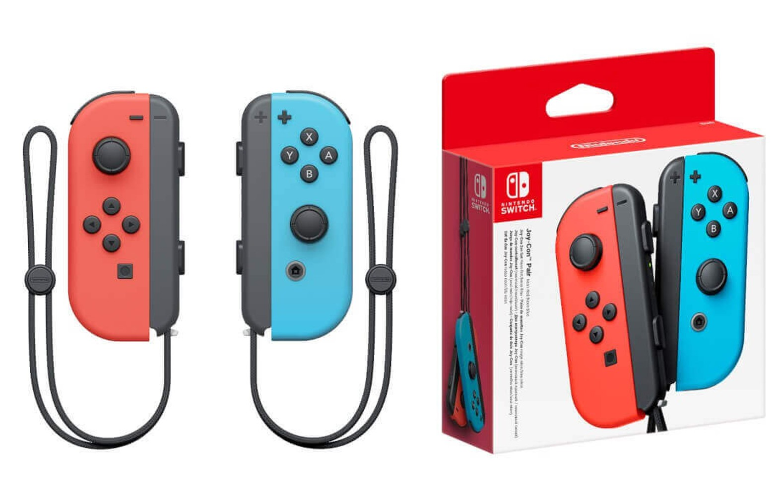 Nintendo Switch Joy-Con Pair Neon Red / Neon Blue