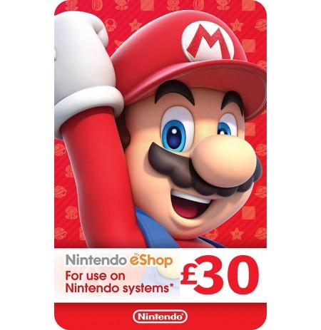 Nintendo eShop Card 30 GBP (JUNGTINĖ KARALYSTĖ)