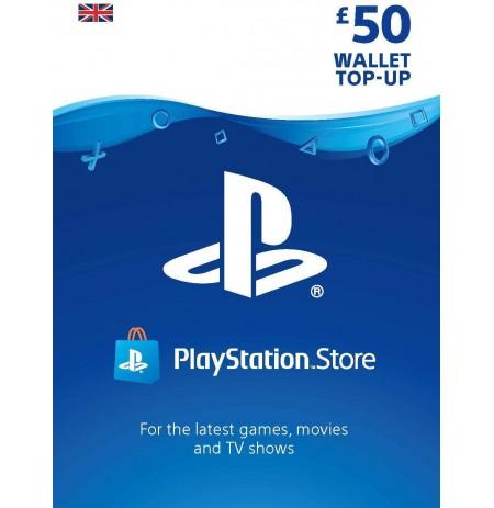 Playstation Network Card 50 GBP  (Jungtinė karalystė)