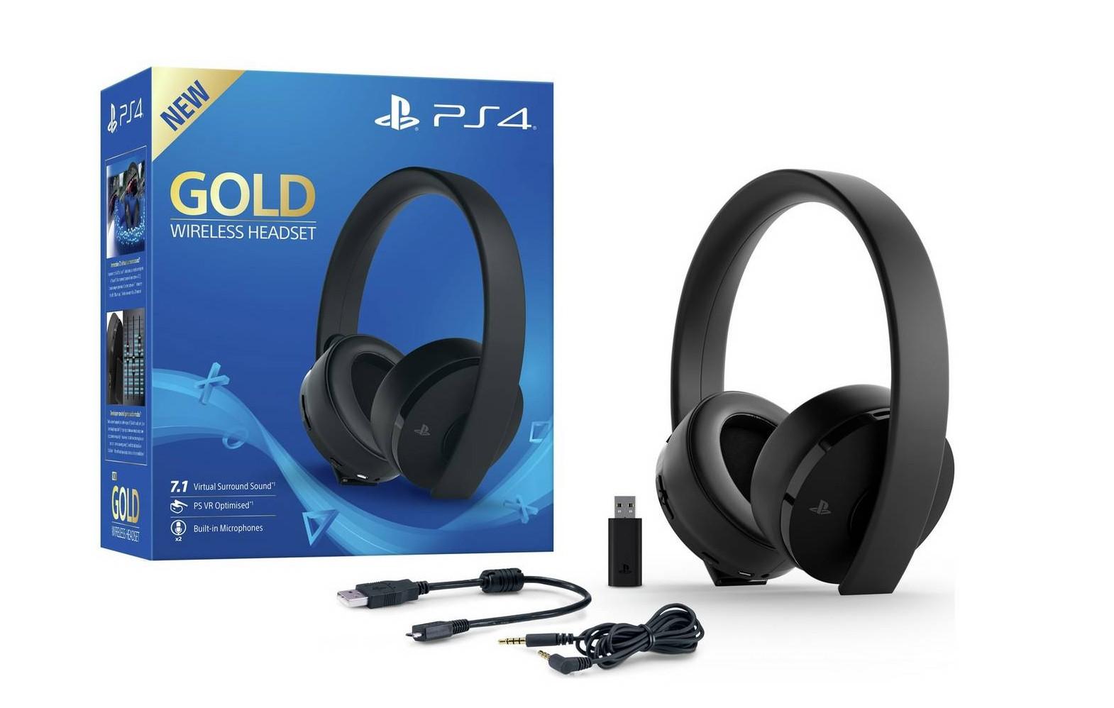 Sony PlayStation 4 Gold belaidės ausinės 7.1 Black