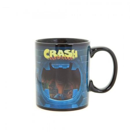 Crash Bandicoot 460 ml spalvą keičiantis puodukas
