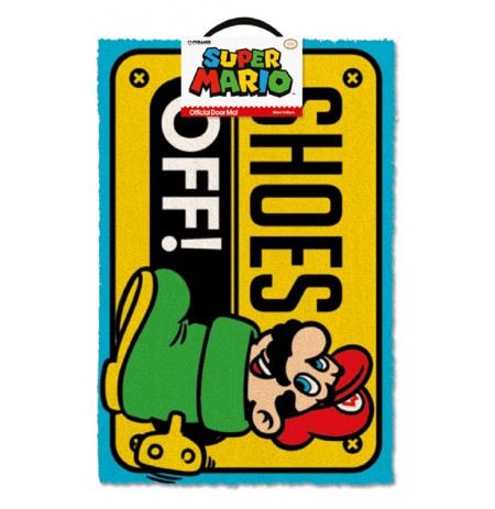 NINTENDO - MARIO SHOES OFF! doormat | 60x40cm