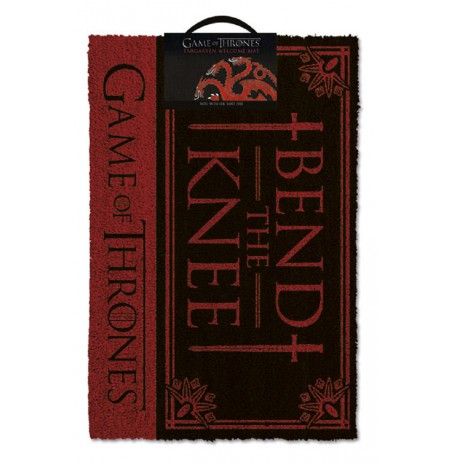 GAME OF THRONES - BEND THE KNEE! doormat | 60x40cm