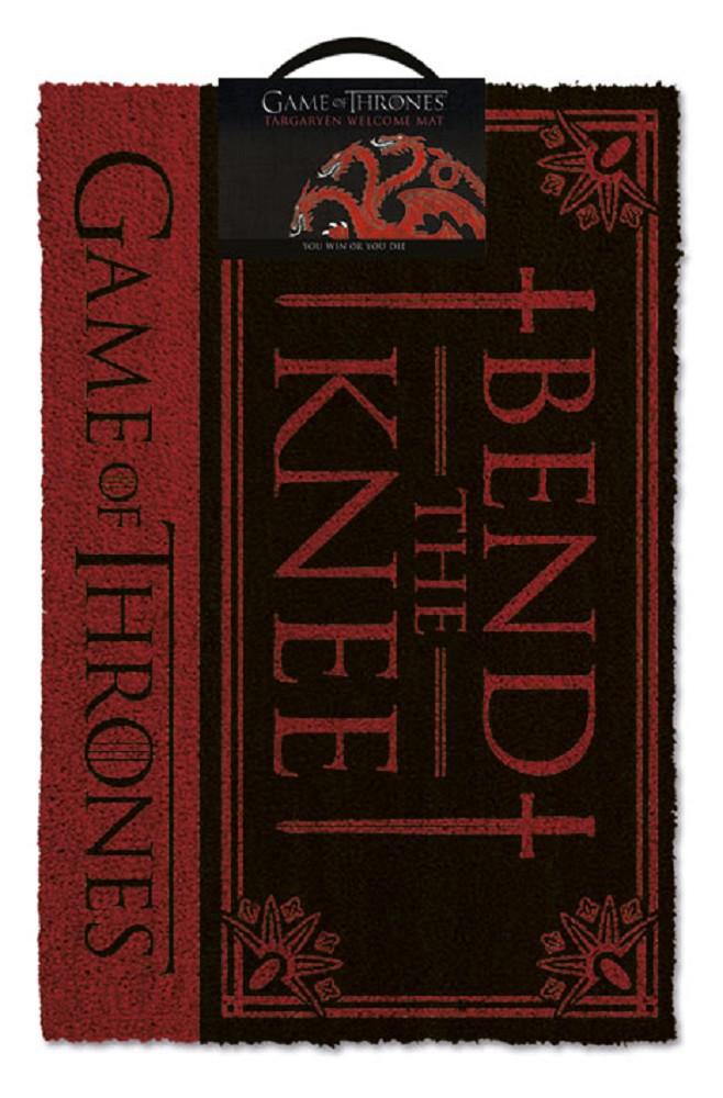 GAME OF THRONES - BEND THE KNEE! doormat | 60x40cm