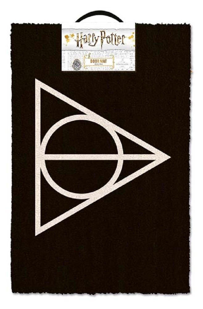HARRY POTTER - DEATHLY HALLOWS durų kilimėlis| 60x40cm