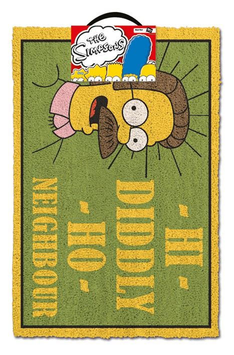 THE SIMPSONS - DIDDLY HO NEIGHBOUR doormat | 60x40cm