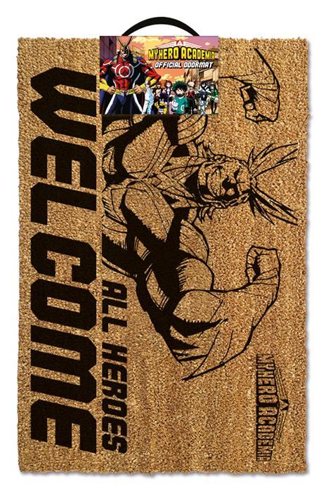 MY HERO ACADEMIA - ALL HEROES WELCOME durų kilimėlis  60x40cm