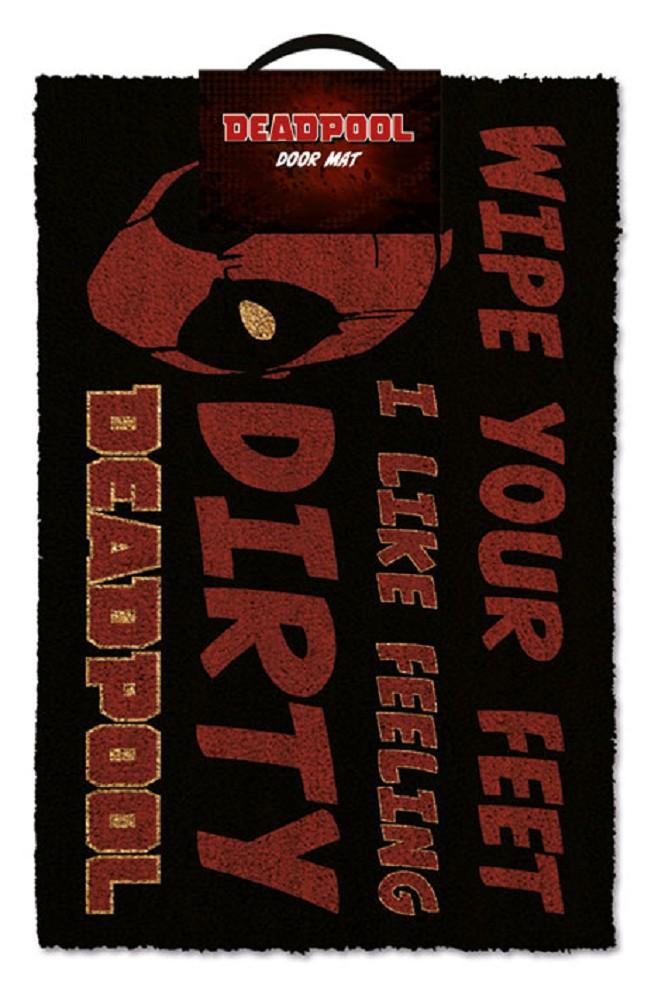 DEADPOOL - DIRTY durų kilimėlis  60x40cm