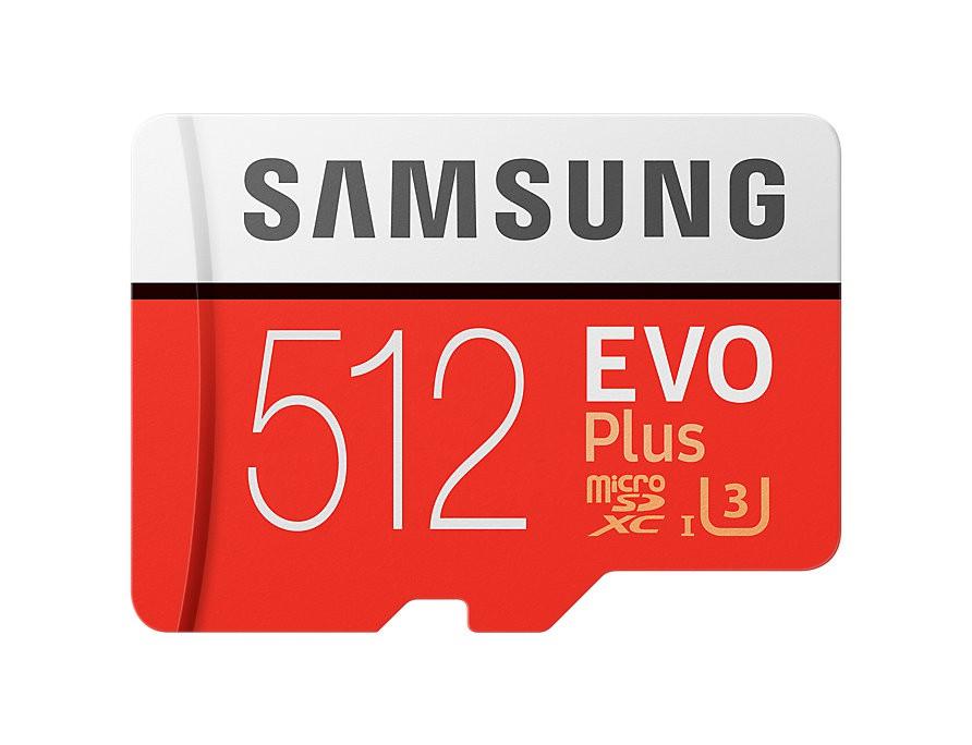 Atminties kortelė Samsung MicroSDXC Evo+ 512GB