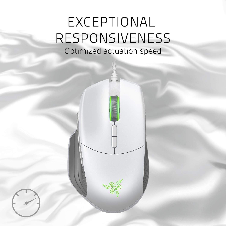 Razer Basilisk Mercury white gaming mouse