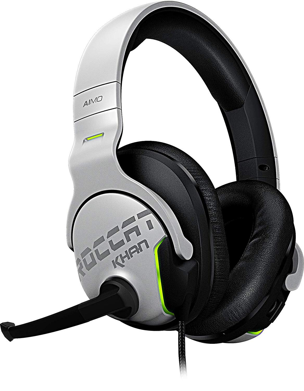 ROCCAT Khan AIMO 7.1 baltos laidinės ausinės | USB