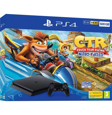 Žaidimų konsolė SONY PlayStation 4 (PS4) Slim 500GB - Crash Team Racing Nitro-Fueled Bundle
