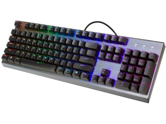 COOLER MASTER MASTERKEYS CK350 mechaninė laidinė RGB klaviatūra | US BLUE