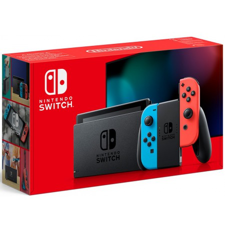 Nintendo Switch console (with Neon Red and Neon Blue Joy- Con)