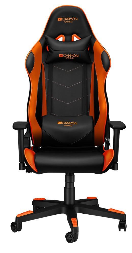 Canyon Deimos juoda/oranžinė ergonominė kėdė