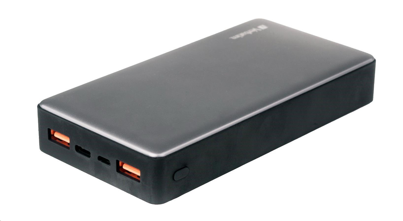 VERBATIM 20 000mAh Power Bank with Quick Charge USB/USB-C