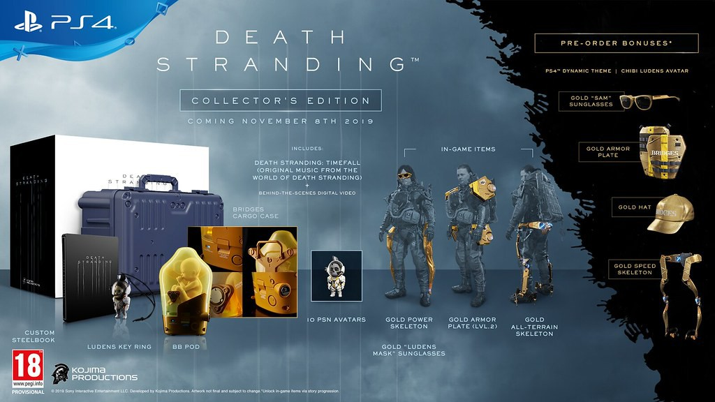 Death Stranding Collectors Edition (preorder bonus: pin badge set)