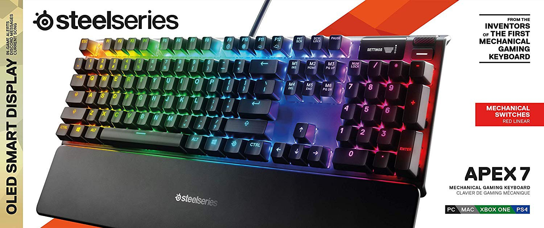 Steelseries Apex 7 mechaninė RGB klaviatūra (US) (Red switch)