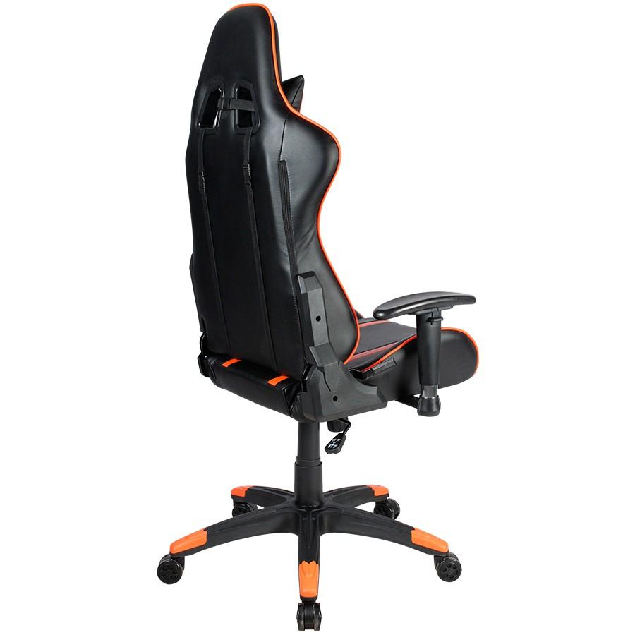 Canyon Fobos juoda/oranžinė ergonominė kėdė