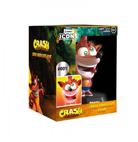 Crash Bandicoot Crash ICON lempa 10cm
