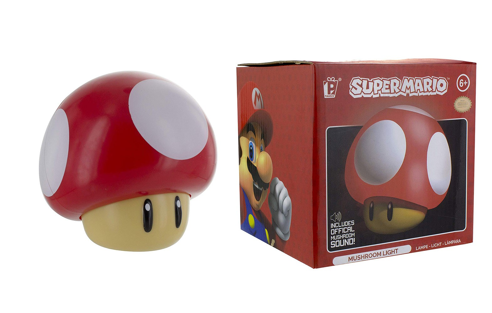 Super Mario Mushroom light 10cm