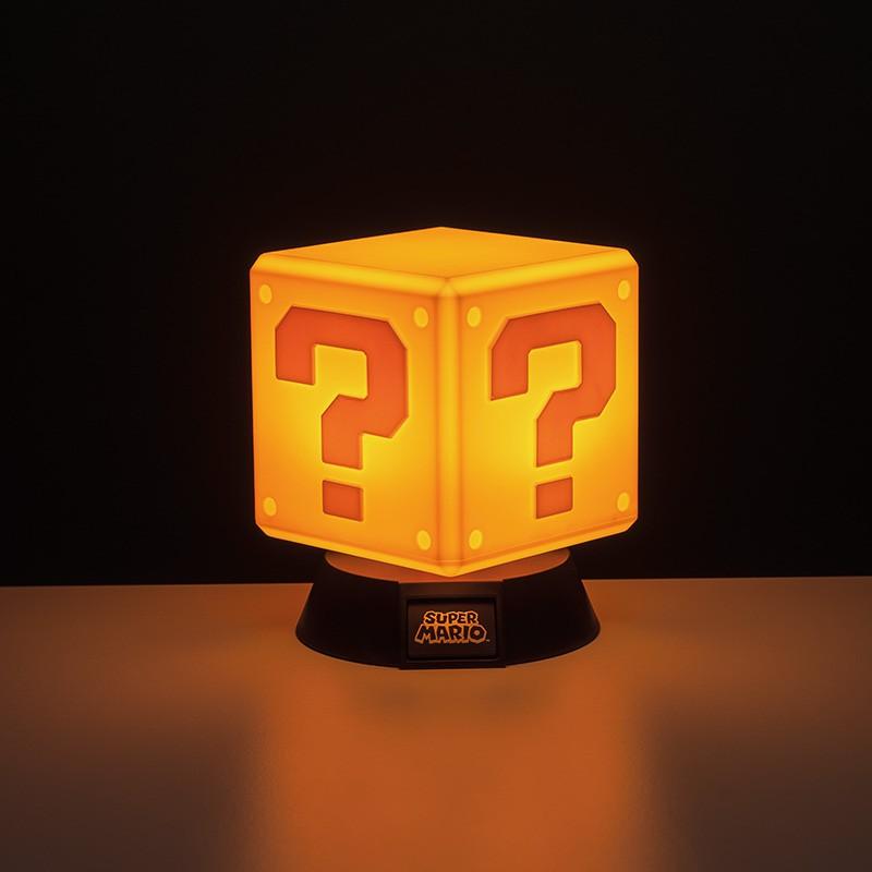 Super Mario Question Block ICON light 10cm