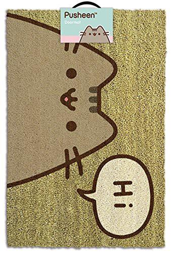 Pusheen Says Hi durų kilimėlis| 60x40cm
