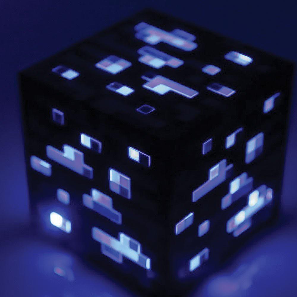 Minecraft Bluestone ore lempa 8cm