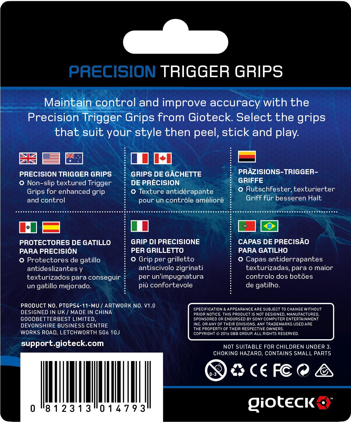 PS4 Gioteck Precision Trigger Grips