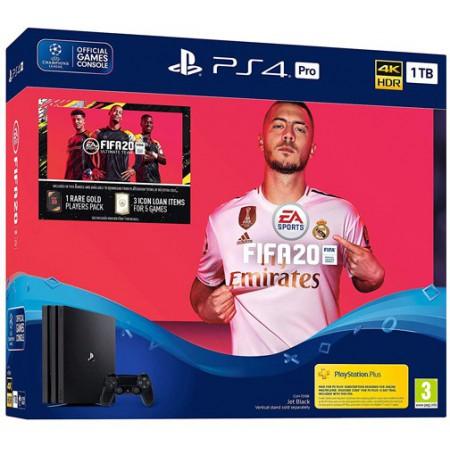 Žaidimų konsolė SONY PlayStation 4 (PS4) PRO 1TB (juoda) + FIFA 20 Bundle