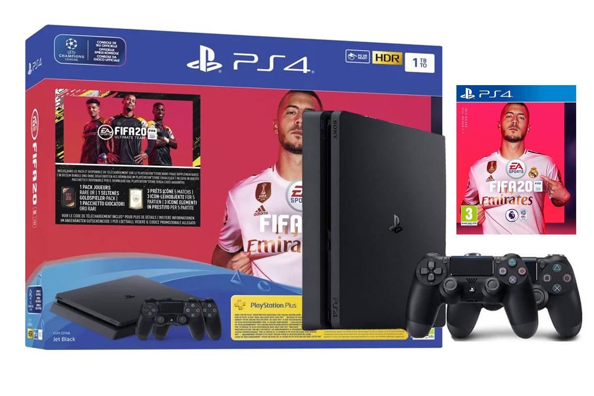 Sony PlayStation 4 Slim 1TB - FIFA 20 Dualshock bundle