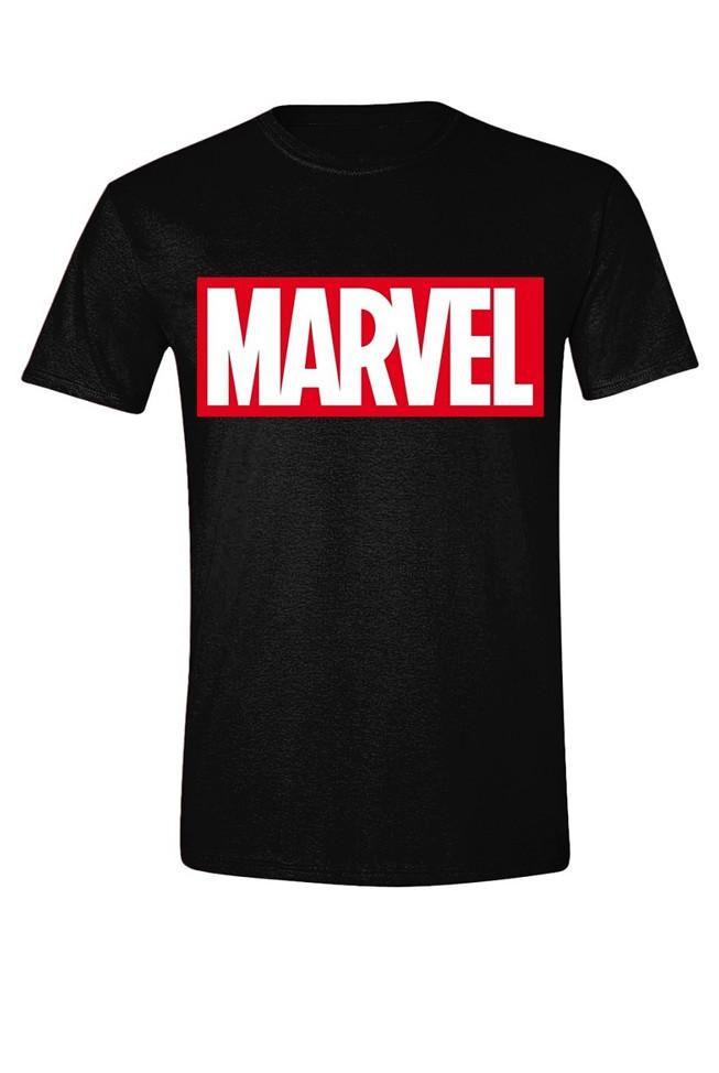MARVEL - LOGO juodi marškinėliai - M dydis