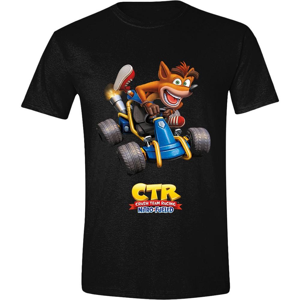 CRASH TEAM RACING - CRASH CAR juodi marškinėliai - M dydis