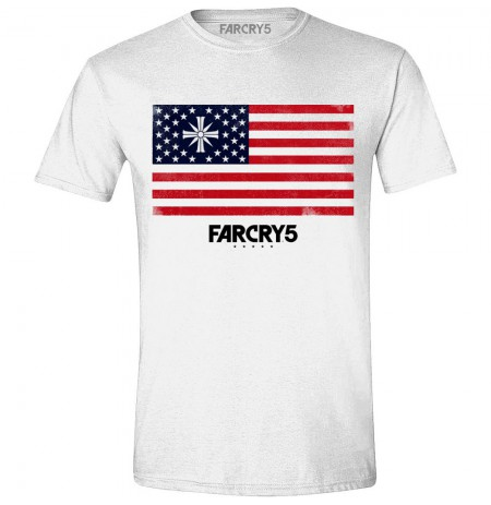 FAR CRY 5 - CULT FLAG balti marškinėliai - XL dydis