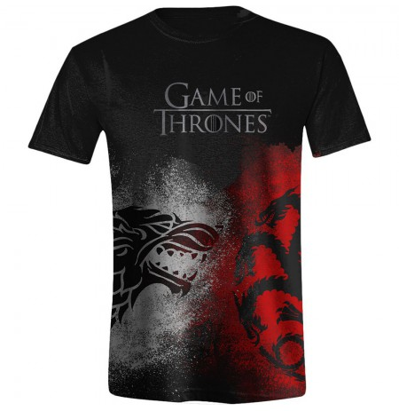 GAME OF THRONES - SIGIL FACE OFF MEN juodi marškinėliai - XL dydis